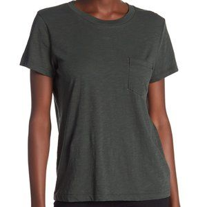 Madewell Crew Neck Pocket Tee, S, EUC Forest Green